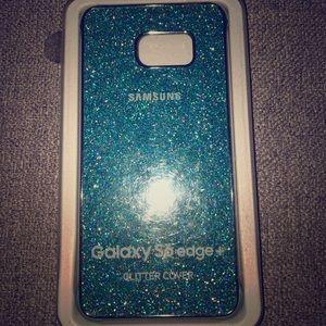 Galaxy s6 edge+ glitter cover. New.